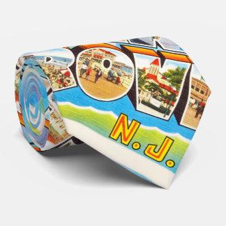 Postal del viaje del vintage de New Jersey NJ de Corbatas Personalizadas