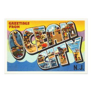 Postal del viaje del vintage de New Jersey NJ de Fotografías