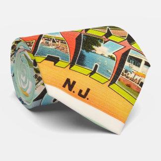 Postal del viaje del vintage de New Jersey NJ del Corbata Personalizada