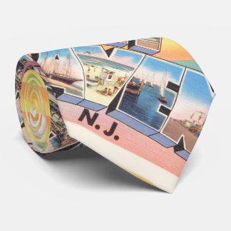 Postal del viaje del vintage de New Jersey NJ del Corbatas Personalizadas