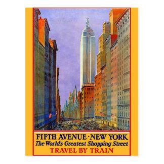 Postal del viaje del vintage de New York City
