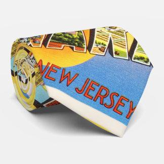 Postal del viaje del vintage de Newark New Jersey Corbata Personalizada