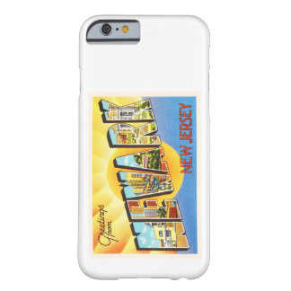 Postal del viaje del vintage de Newark New Jersey Funda Barely There iPhone 6