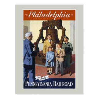 Postal del viaje del vintage de Philadelphia