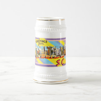 Postal del viaje del vintage del SC de Columbia Jarra De Cerveza