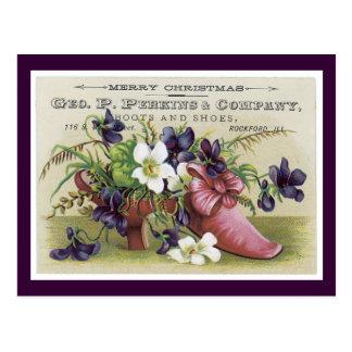 Postal del Victorian de Ad Label Perkins Company