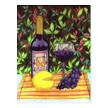 Postal del vino y del queso