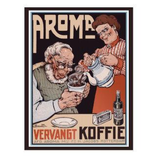 Postal del vintage:   Café: Aroma Vergangt Koffie