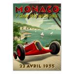 Postal del vintage con competir con la impresión d tarjeta