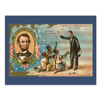 Postal del vintage de Abraham Lincoln