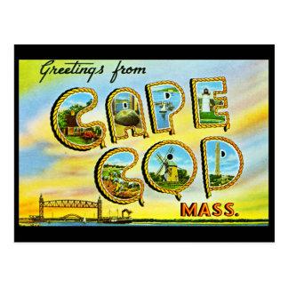 Postal del vintage de Cape Cod Massachusetts