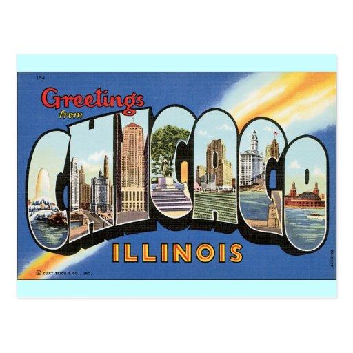 Postal del vintage de Chicago Illinois