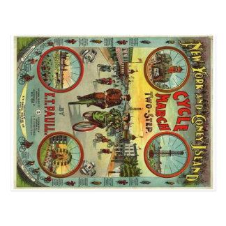 Postal del vintage de Coney Island