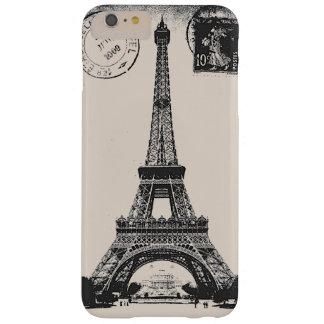 Postal del vintage de Eiffel de la torre del La de Funda De iPhone 6 Plus Barely There