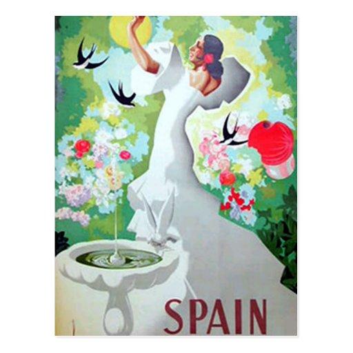 Postal del vintage de España