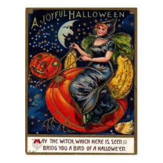 Postal del vintage de Halloween