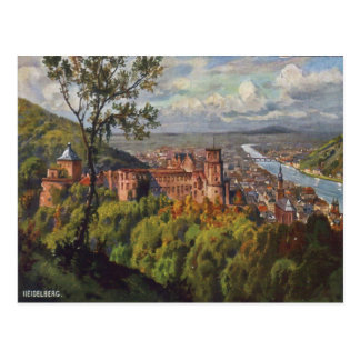 Postal del vintage de Heidelberg Alemania