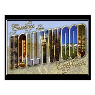 postal del vintage de hollywood