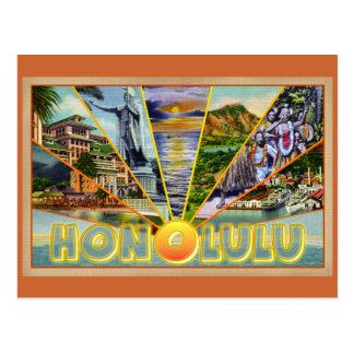 Postal del vintage de Honolulu Hawaii