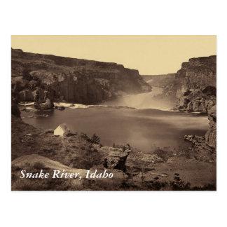Postal del vintage de Idaho de las caídas del río