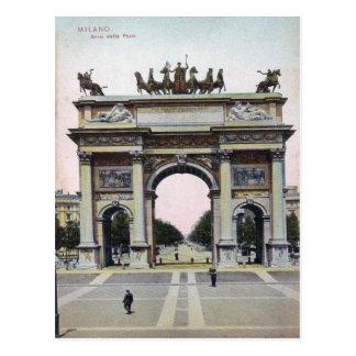 Postal del vintage de Italia del paso del della de