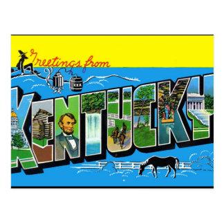 Postal del vintage de Kentucky