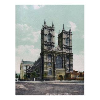Postal del vintage de la abadía de Westminster