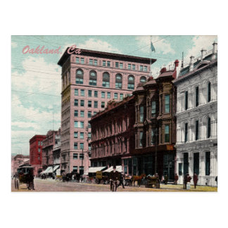 Postal del vintage de la calle de Broadway