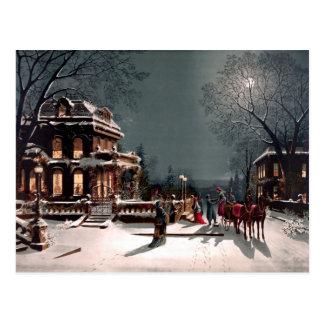Postal del vintage de la fiesta de Navidad del Vic