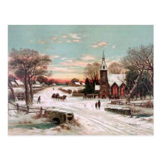 Postal del vintage de la Nochebuena