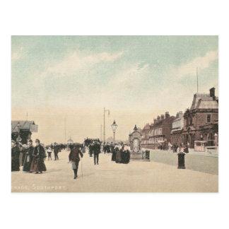 "Postal del vintage de la ""promenade"", Southport"