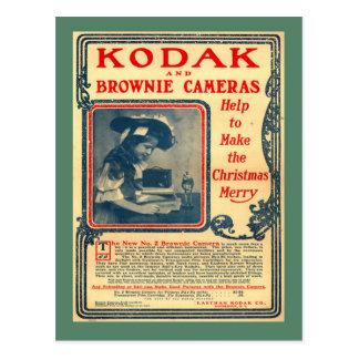 Postal del vintage de la reproducción cámaras del