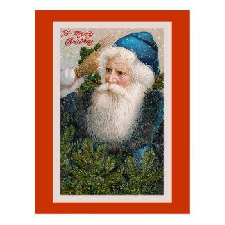 Postal del vintage de las Felices Navidad