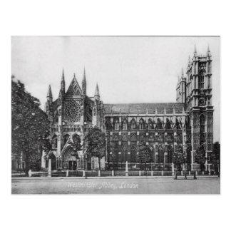 Postal del vintage de Londres de la abadía de West