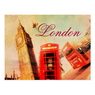 Postal del vintage de Londres