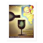 Postal del vintage de los Winemakers de Milton Key
