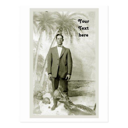 Postal del vintage de Miami la Florida