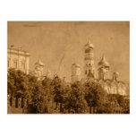 Postal del vintage de Moscú el Kremlin