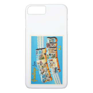Postal del vintage de New Jersey NJ de las alturas Funda iPhone 7 Plus