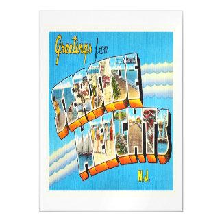 Postal del vintage de New Jersey NJ de las alturas Invitaciones Magnéticas