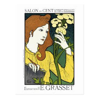 Postal del vintage de Nouveau del arte: por