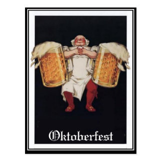 Postal del vintage de Oktoberfest