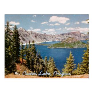 Postal del vintage de Oregon del lago crater