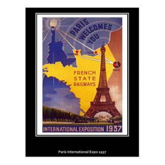 Postal del vintage de París
