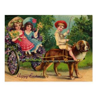Postal del vintage de Pascua del desfile del Victo