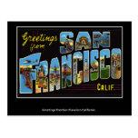 Postal del vintage de San Francisco