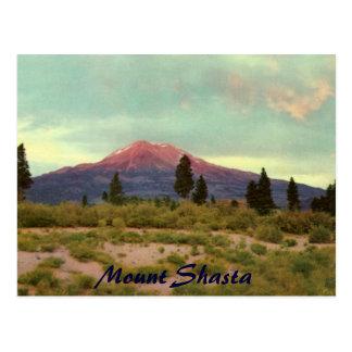 Postal del vintage de Shasta del soporte