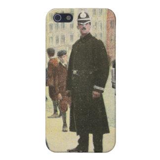 Postal del vintage de un policía irlandés iPhone 5 funda