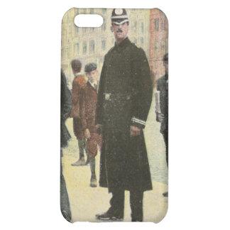 Postal del vintage de un policía irlandés