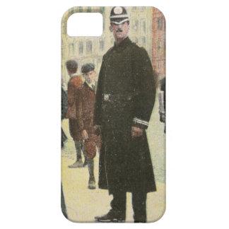 Postal del vintage de un policía irlandés funda para iPhone 5 barely there